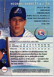 1999 Stadium Club #349 Michael Barrett