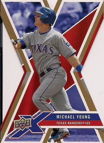 2008 Upper Deck X Die Cut Gold #96 Michael Young