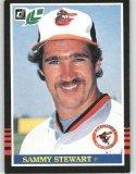 1985 Leaf/Donruss #98 Sammy Stewart