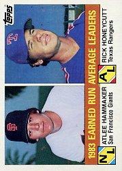 1984 Topps #137 A.Hammaker/R.Honeycutt