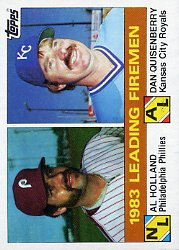 1984 Topps #138 Al Holland/Dan Quisenberry LL
