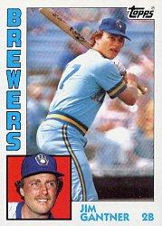 1984 Topps #298 Jim Gantner