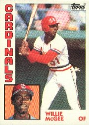 1984 Topps #310 Willie McGee