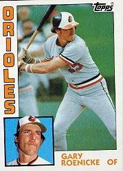 1984 Topps #372 Gary Roenicke