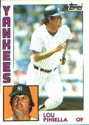 1984 Topps #408 Lou Piniella