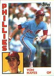1984 Topps #587 Von Hayes