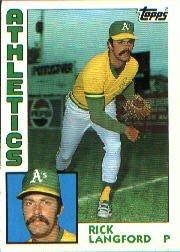 1984 Topps #629 Rick Langford