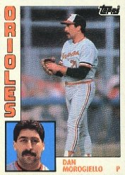 1984 Topps #682 Dan Morogiello RC