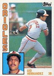 1984 Topps #71 Leo Hernandez
