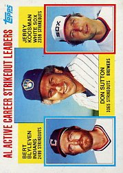 1984 Topps #716 AL Active Strikeout