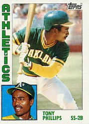 1984 Topps #309 Tony Phillips RC