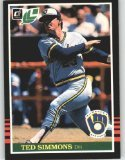 1985 Leaf #104 Ted Simmons