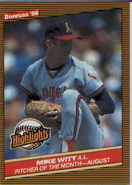 1986 Donruss Highlights #38 Mike Witt