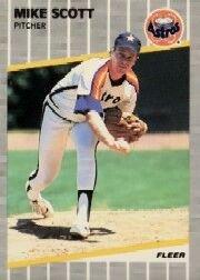 1989 Fleer #367 Mike Scott