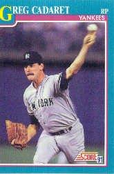 1991 Score #188 Greg Cadaret