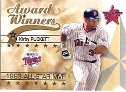 2002 Leaf Rookies and Stars #274 Kirby Puckett 93
