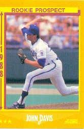 1988 Score #636 John Davis