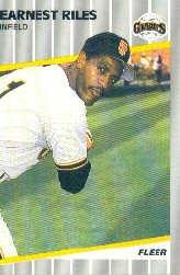 1989 Fleer #341 Earnest Riles