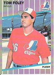 1989 Fleer #375 Tom Foley ( Baseball Cards )