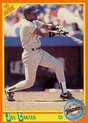 1990 Score Rookie / Traded #19T Joe Carter - San Diego Padres (Baseball Cards)