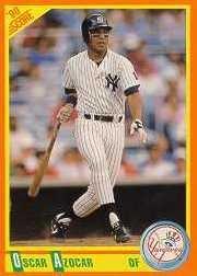 1990 Score Rookie/Traded #71T Oscar Azocar RC