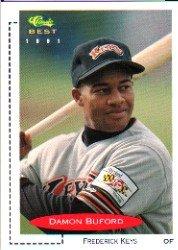 1991 Classic/Best #198 Damon Buford