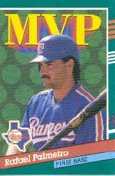 1991 Donruss #394 Rafael Palmeiro MVP