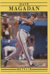1991 Fleer #153 Dave Magadan