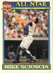 1991 Topps #404 Mike Scioscia AS