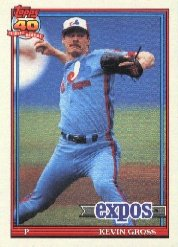 1991 Topps #674 Kevin Gross ( ERR 89 BB with Phillies in '88 tied Baseball Cards )