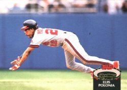 1992 Stadium Club #528 Luis Polonia ( Baseball Cards )