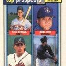 1992 Topps Top Prospects 126 Rico Brogna Ryan Klesko / Dave Staton / John Jana