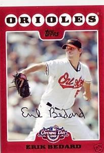 2008 Topps Opening Day #24 Erik Bedard - Baltimore Orioles (Baseball Cards)