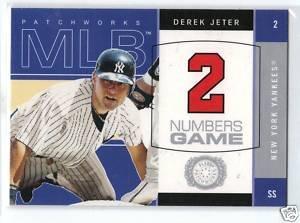 2003 Fleer Patchworks Numbers Game #2NG Derek Jeter