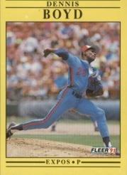 1991 Fleer #226 Dennis Boyd