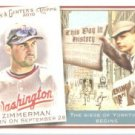 2010 Topps Allen and Ginter This Day in History #TDH25 Ryan Zimmerman - Washington Nationals (Baseba