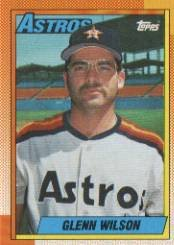 1990 Topps #112 Glenn Wilson - Houston Astros (Baseball Cards)
