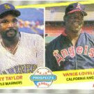 1989 Fleer #651 T.Taylor/V.Lovelace ( Baseball Cards )