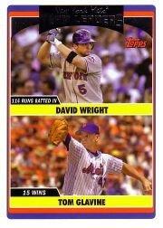 2006 Topps Update #291 D.Wright/T.Glavine TL