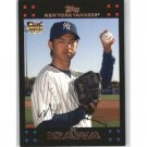2007 Topps #640 Kei Igawa RC - New York Yankees (RC - Rookie Card)(Baseball Cards)