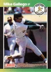 1989 Donruss 422 Mike Gallego