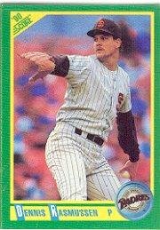 1990 Score #129 Dennis Rasmussen