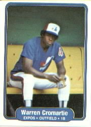 1982 Fleer 186 Warren Cromartie