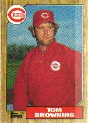 1987 Topps 65 Tom Browning