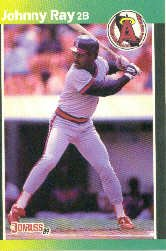 1989 Donruss 331 Johnny Ray