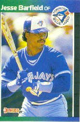 1989 Donruss 425 Jesse Barfield
