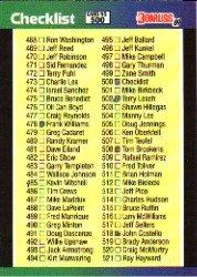 1989 Donruss 500 Checklist 468-577 DP