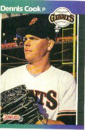 1989 Donruss 646 Dennis Cook RC