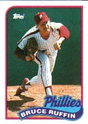 1989 Topps 518 Bruce Ruffin