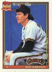1991 Topps 104 Don Robinson